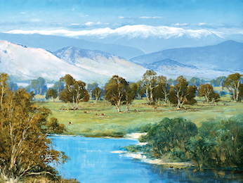 The Snowy Mountains from Corryong, Victoria